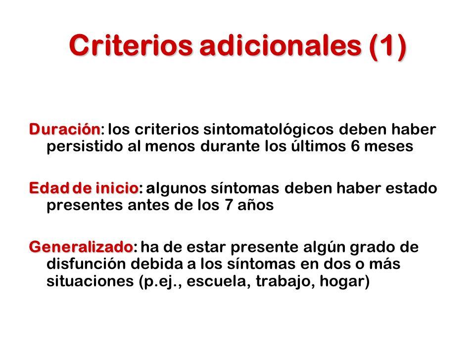 Criterios adicionales (1)