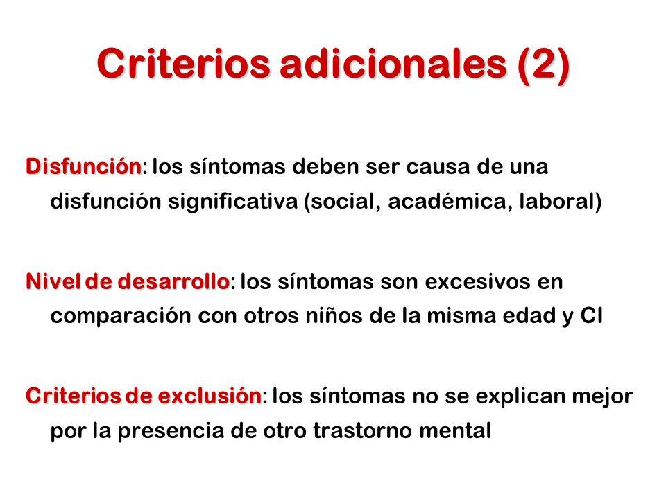 Criterios adicionales (2)