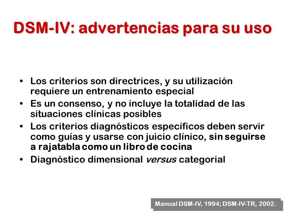 DSM-IV: advertencias para su uso