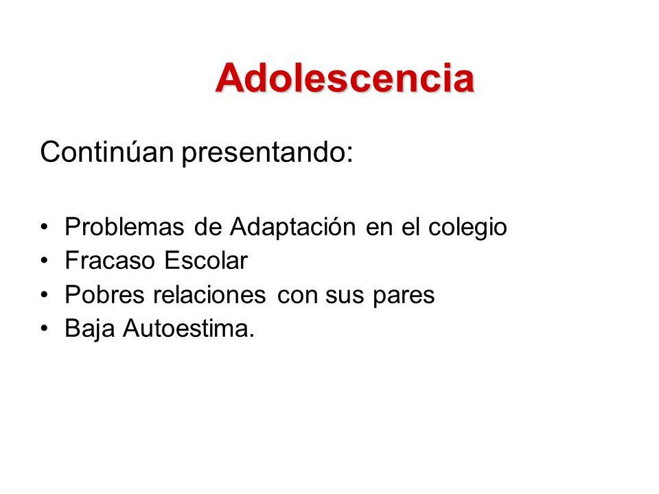 Adolescencia Continúan presentando: