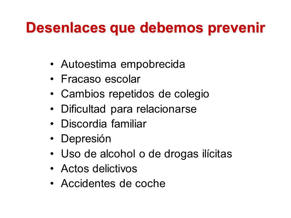 Desenlaces que debemos prevenir
