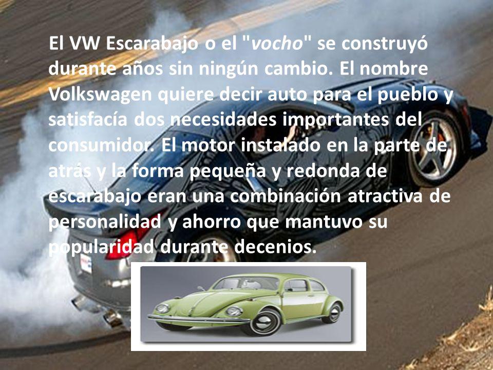 El VW Escarabajo o el vocho se construyó durante años sin ningún cambio.
