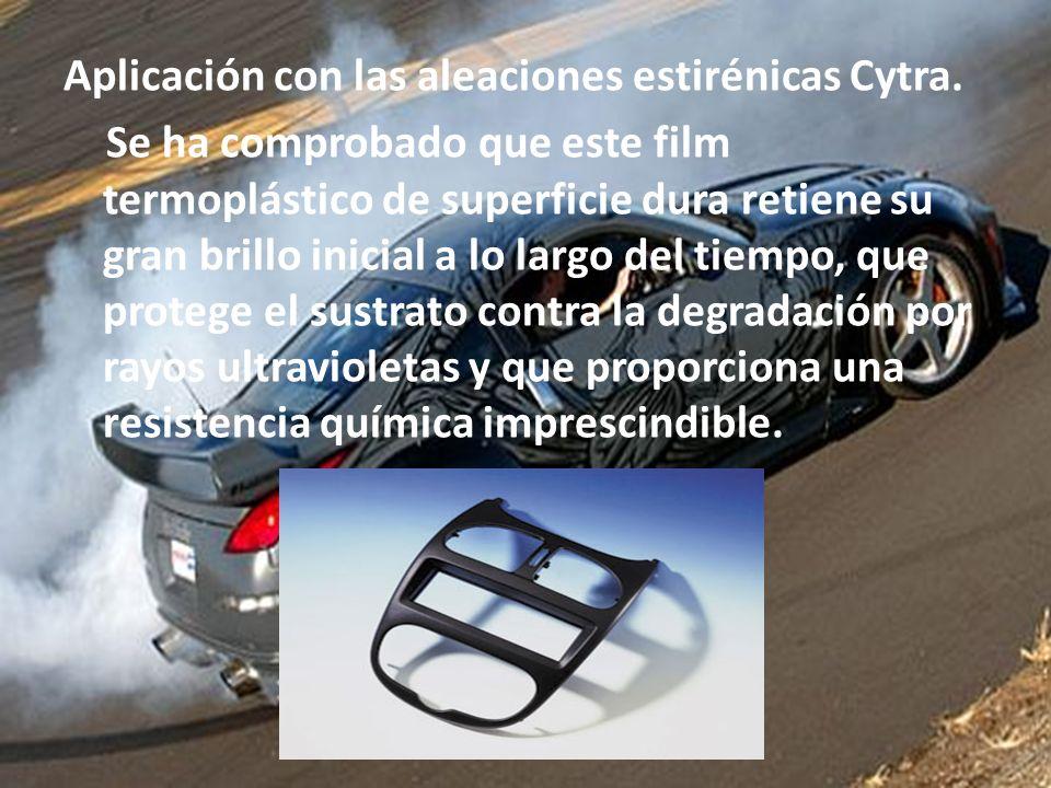 Aplicación con las aleaciones estirénicas Cytra