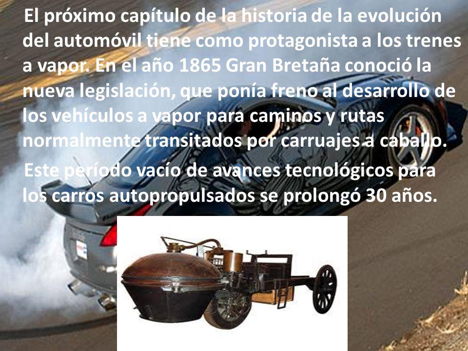 El próximo capítulo de la historia de la evolución del automóvil tiene como protagonista a los trenes a vapor.