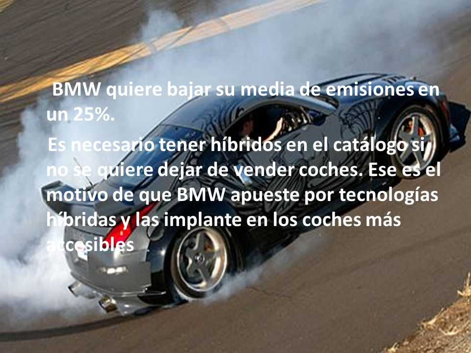 BMW quiere bajar su media de emisiones en un 25%
