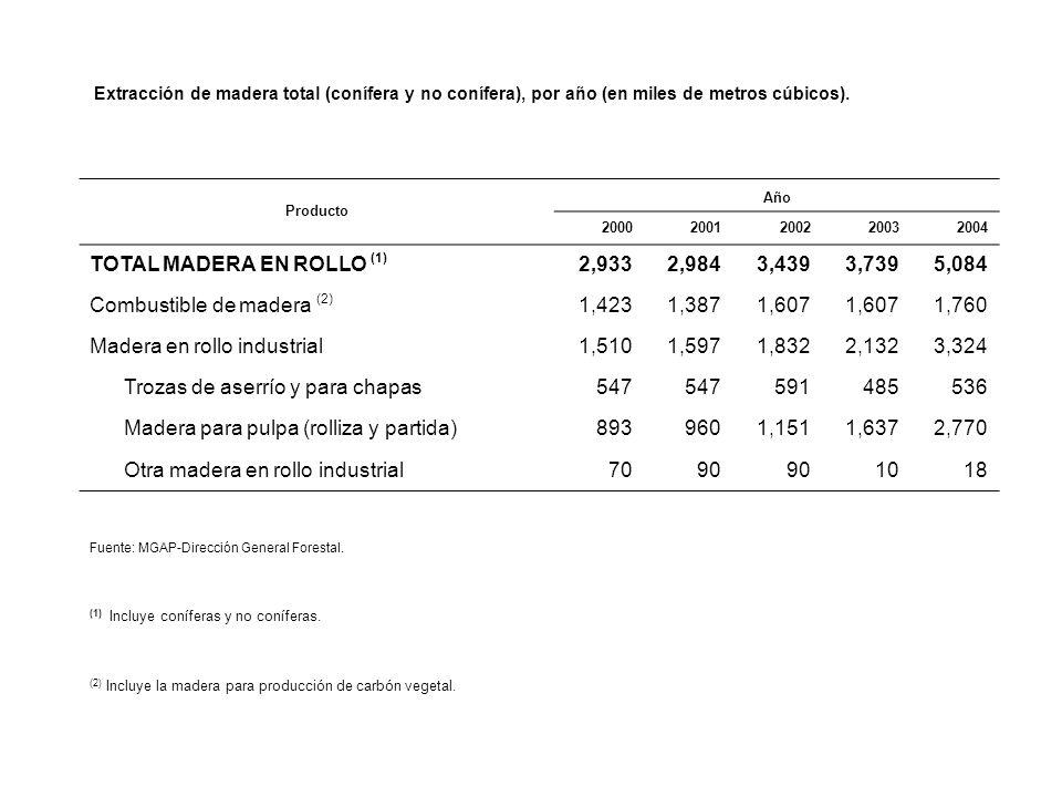 TOTAL MADERA EN ROLLO (1) 2,933 2,984 3,439 3,739 5,084