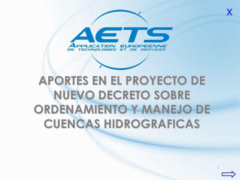 X APORTES EN EL PROYECTO DE NUEVO DECRETO SOBRE ORDENAMIENTO Y MANEJO DE CUENCAS HIDROGRAFICAS