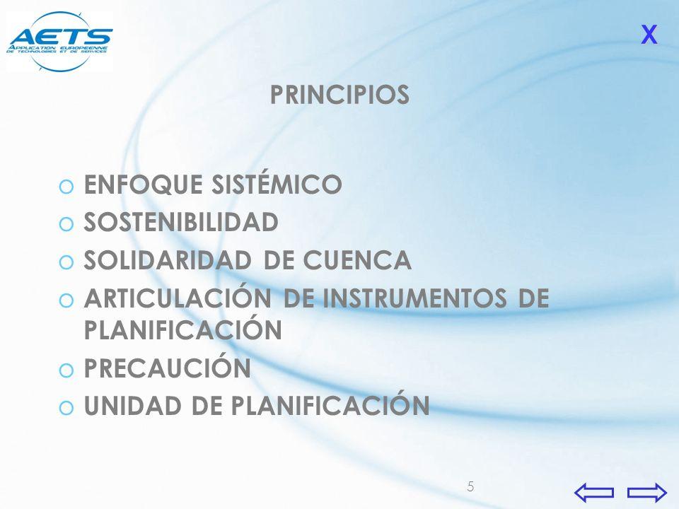 X PRINCIPIOS. ENFOQUE SISTÉMICO. SOSTENIBILIDAD. SOLIDARIDAD DE CUENCA. ARTICULACIÓN DE INSTRUMENTOS DE PLANIFICACIÓN.