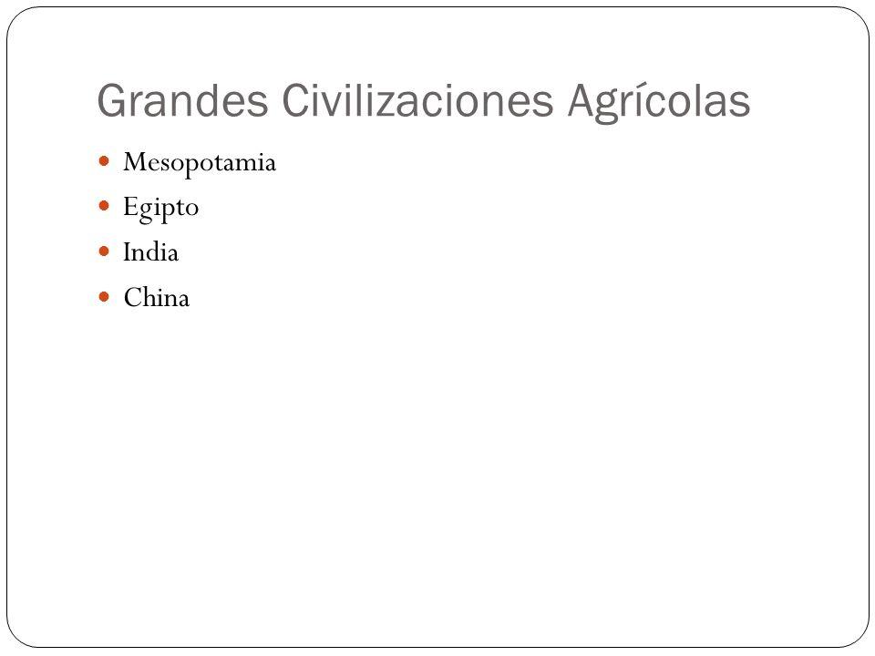 Grandes Civilizaciones Agrícolas