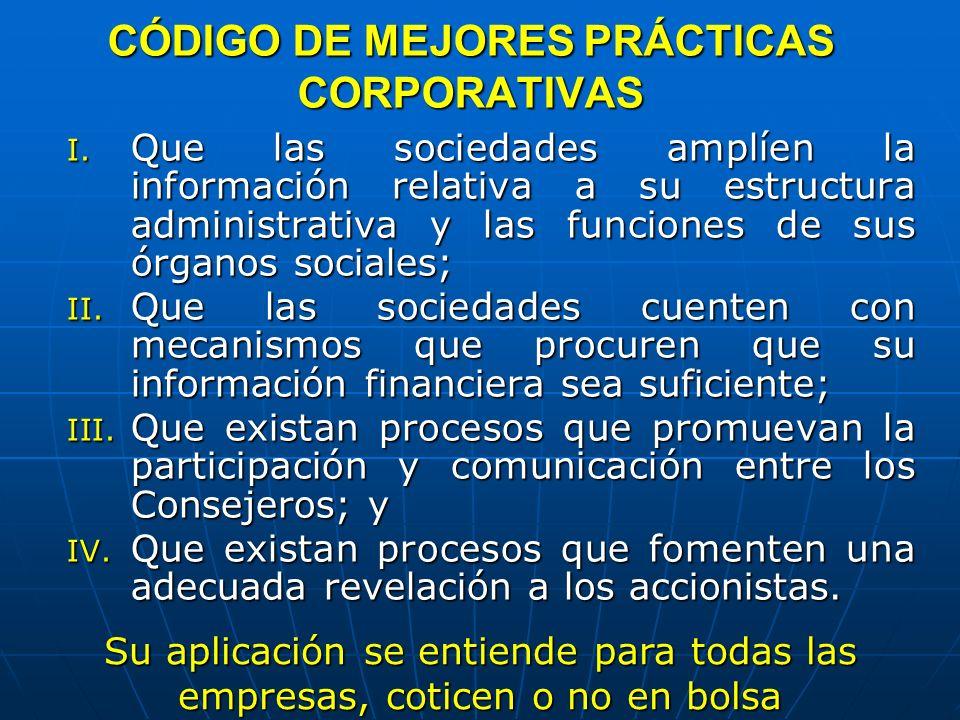 CÓDIGO DE MEJORES PRÁCTICAS CORPORATIVAS