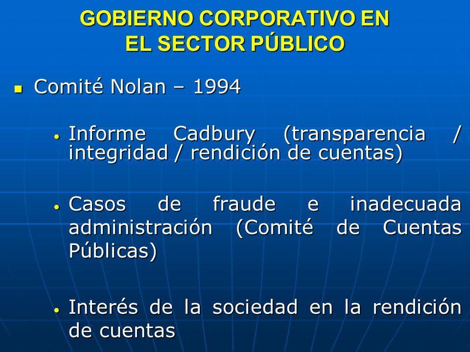 GOBIERNO CORPORATIVO EN EL SECTOR PÚBLICO