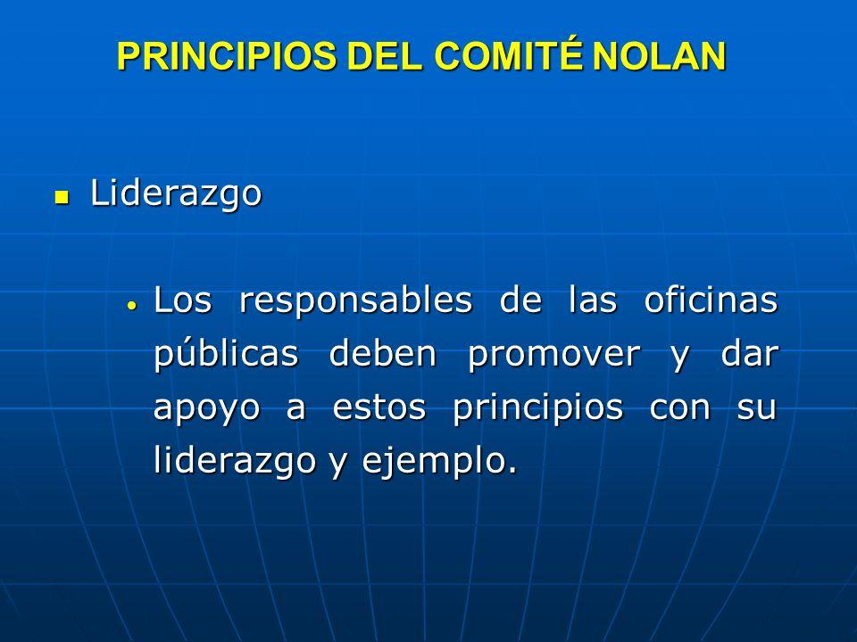 PRINCIPIOS DEL COMITÉ NOLAN