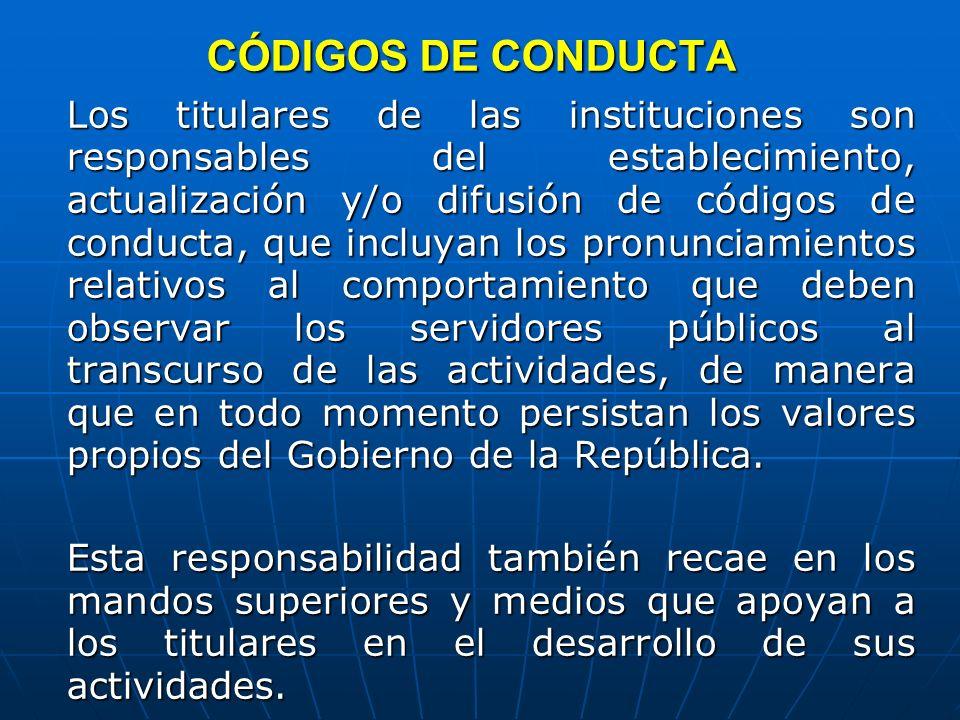 CÓDIGOS DE CONDUCTA