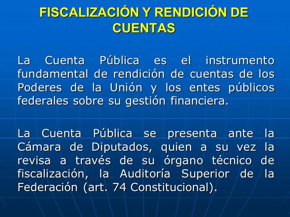 FISCALIZACIÓN Y RENDICIÓN DE CUENTAS
