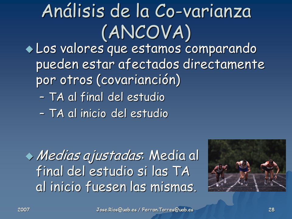 Análisis de la Co-varianza (ANCOVA)