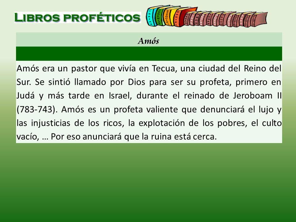 Amós era un pastor que vivía en Tecua, una ciudad del Reino del Sur