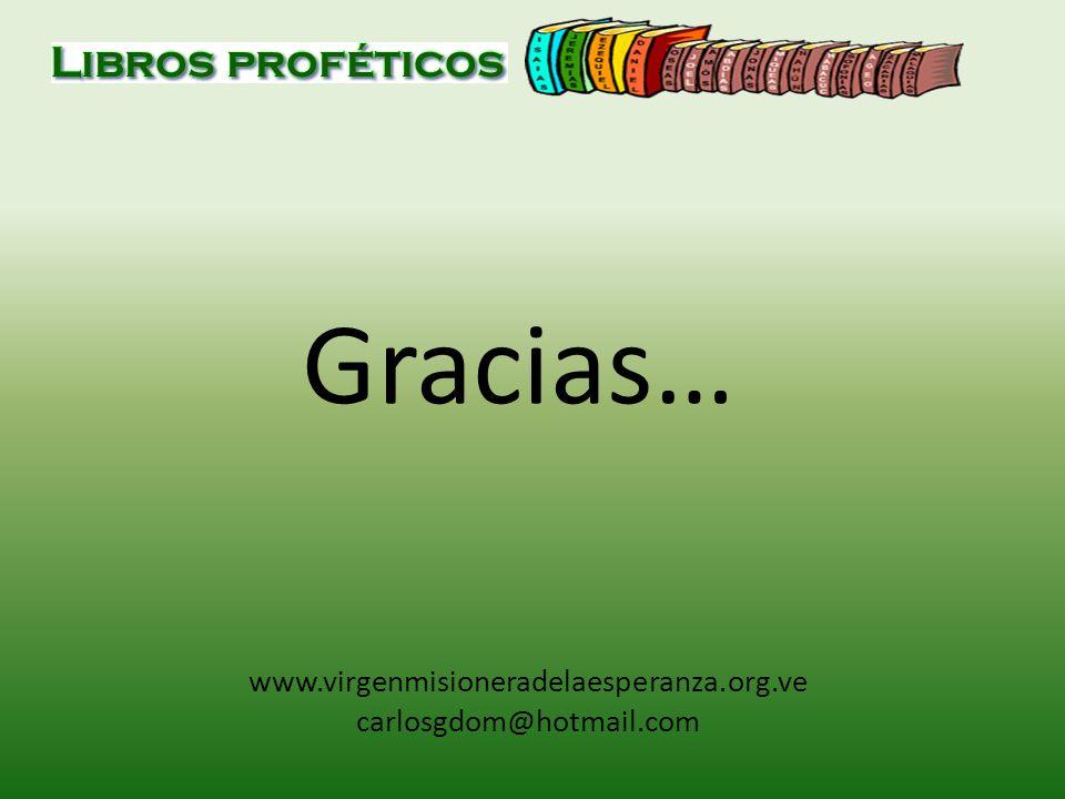 Gracias… www.virgenmisioneradelaesperanza.org.ve