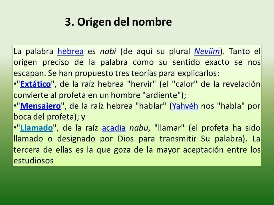 3. Origen del nombre