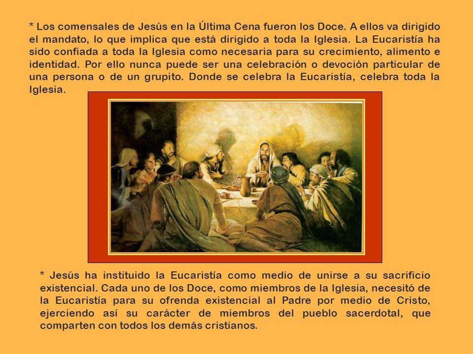 Los comensales de Jesús en la Última Cena fueron los Doce