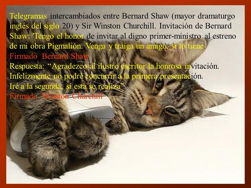 Telegramas intercambiados entre Bernard Shaw (mayor dramaturgo