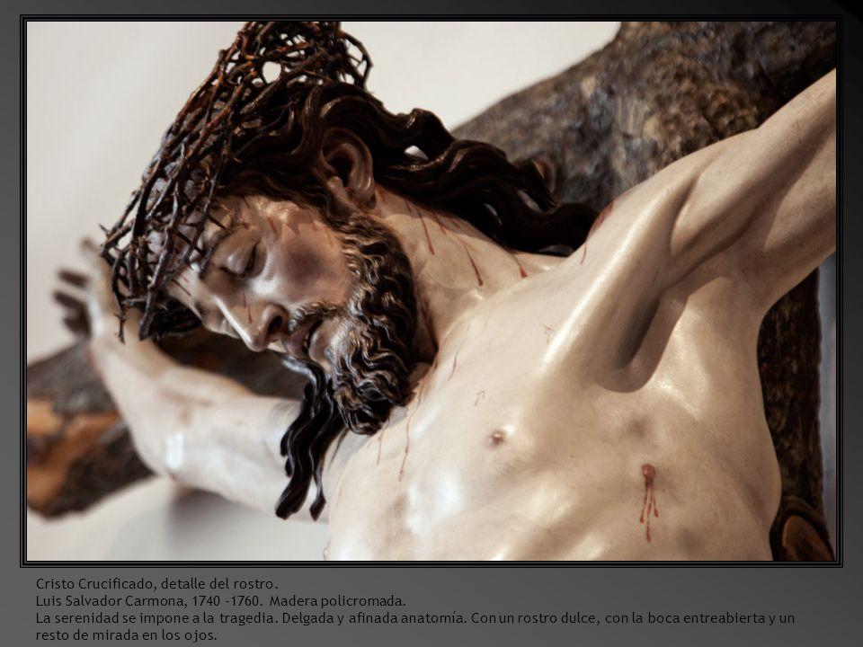 Cristo Crucificado, detalle del rostro.