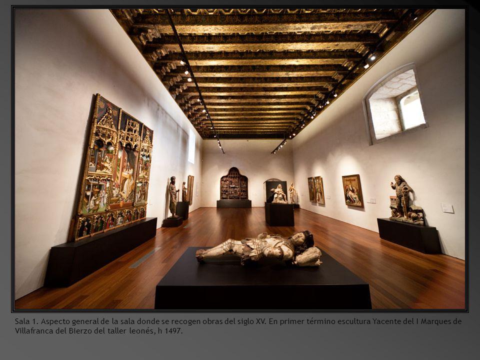 Sala 1. Aspecto general de la sala donde se recogen obras del siglo XV