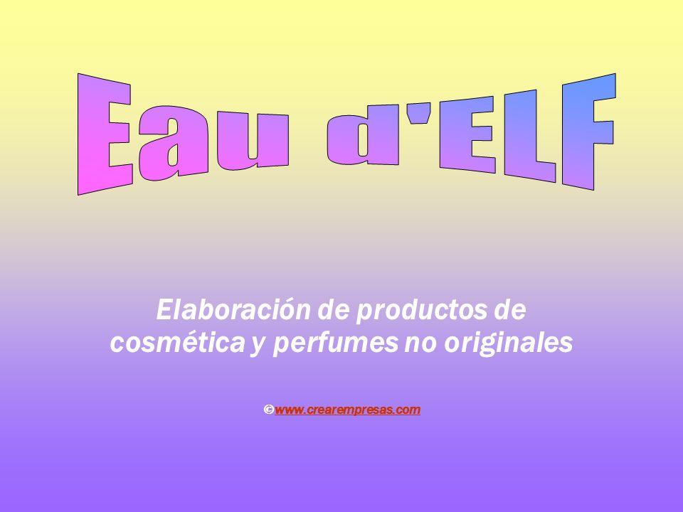 Elaboración de productos de cosmética y perfumes no originales