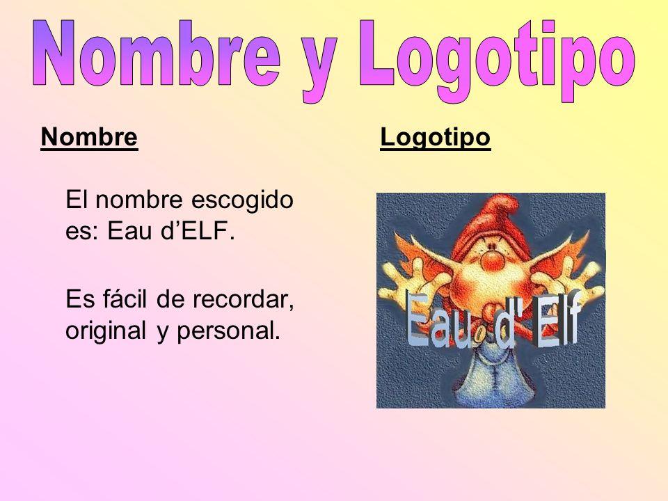 Nombre y Logotipo Nombre El nombre escogido es: Eau d'ELF.