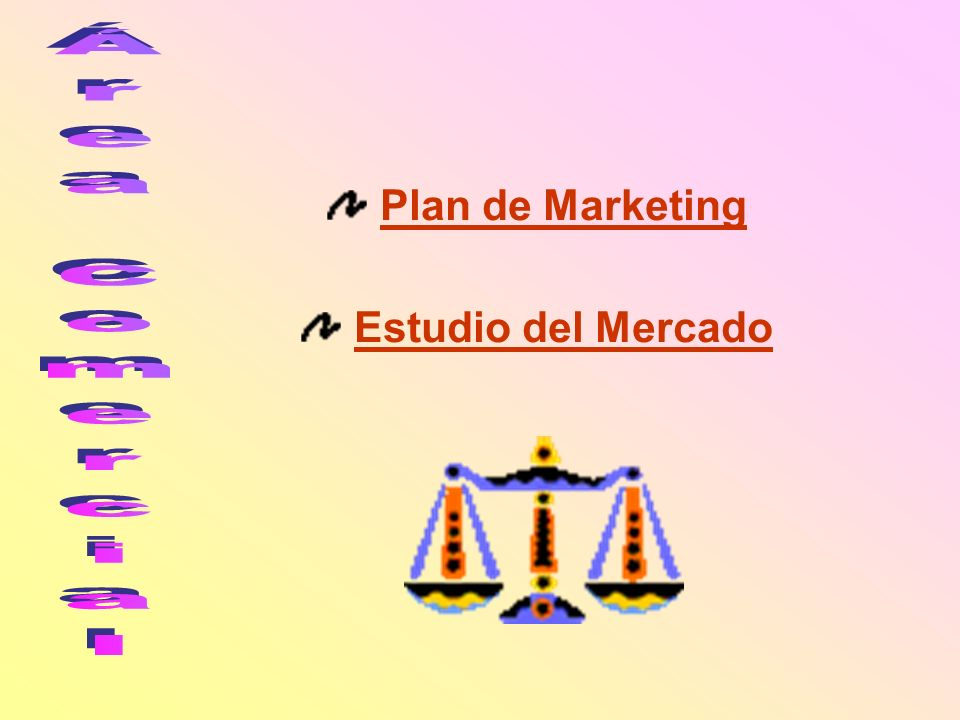Plan de Marketing Estudio del Mercado Área Comercial