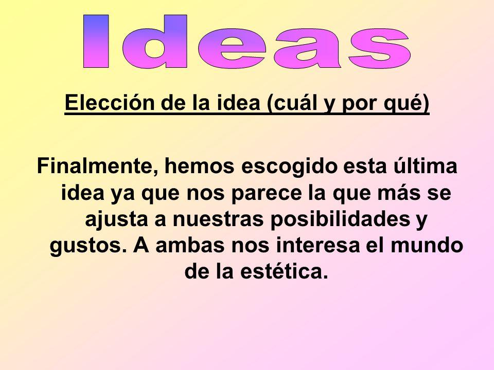 Elección de la idea (cuál y por qué)