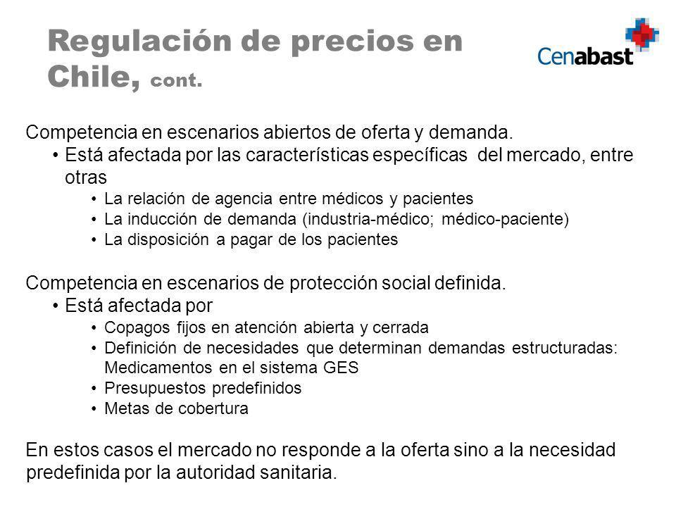 Regulación de precios en Chile, cont.
