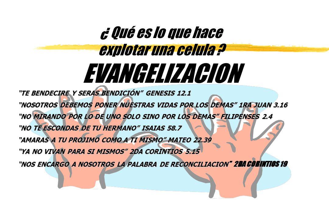 EVANGELIZACION ¿ Qué es lo que hace explotar una celula