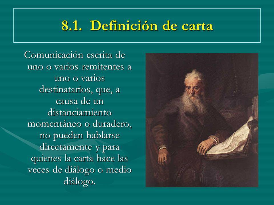 8.1. Definición de carta