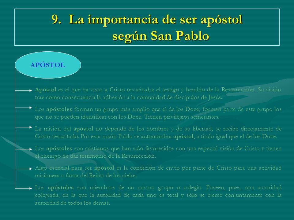9. La importancia de ser apóstol según San Pablo