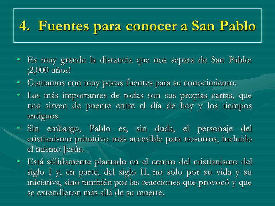 4. Fuentes para conocer a San Pablo