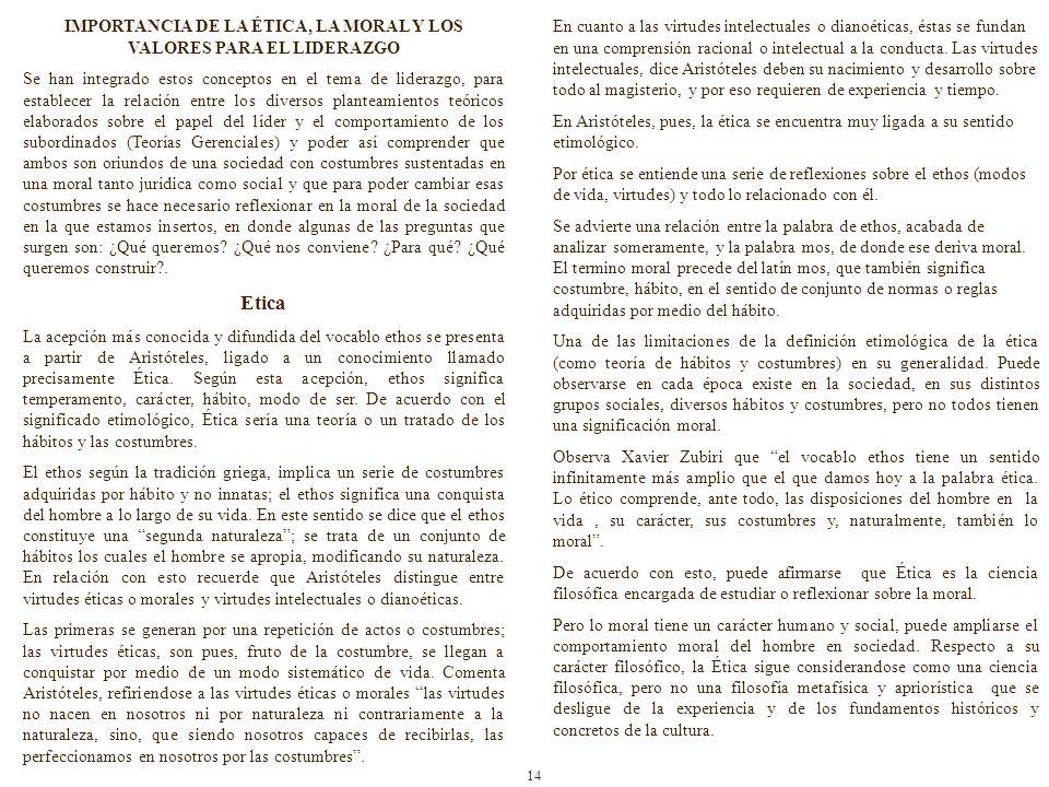IMPORTANCIA DE LA ÉTICA, LA MORAL Y LOS VALORES PARA EL LIDERAZGO
