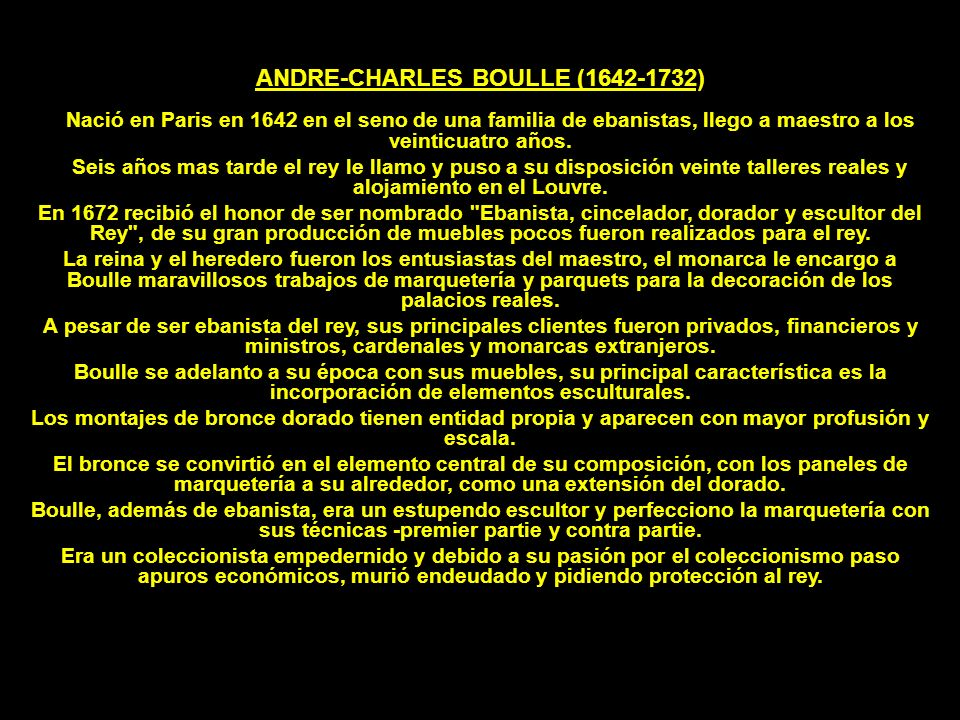 ANDRE-CHARLES BOULLE (1642-1732)