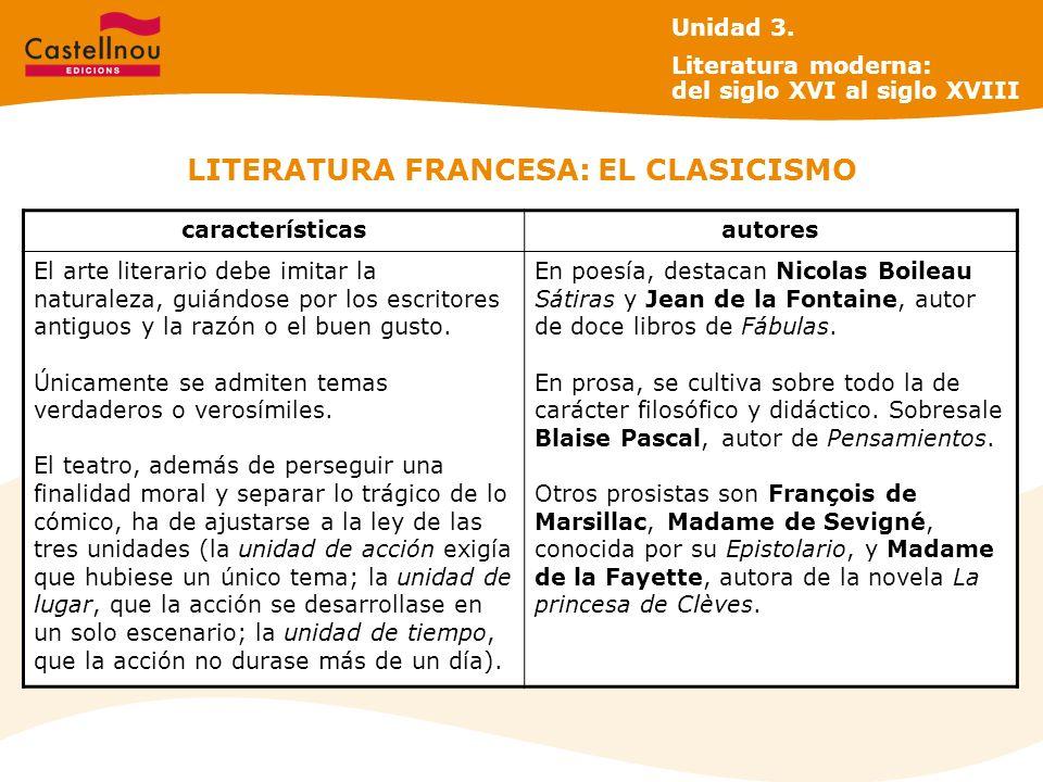 LITERATURA FRANCESA: EL CLASICISMO