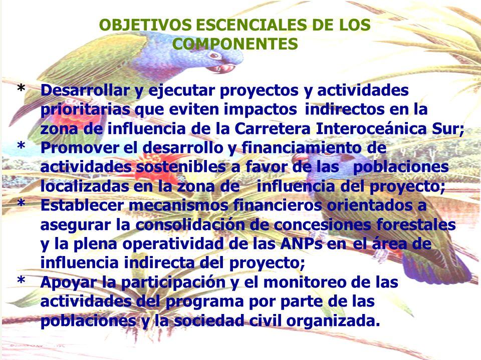 OBJETIVOS ESCENCIALES DE LOS COMPONENTES