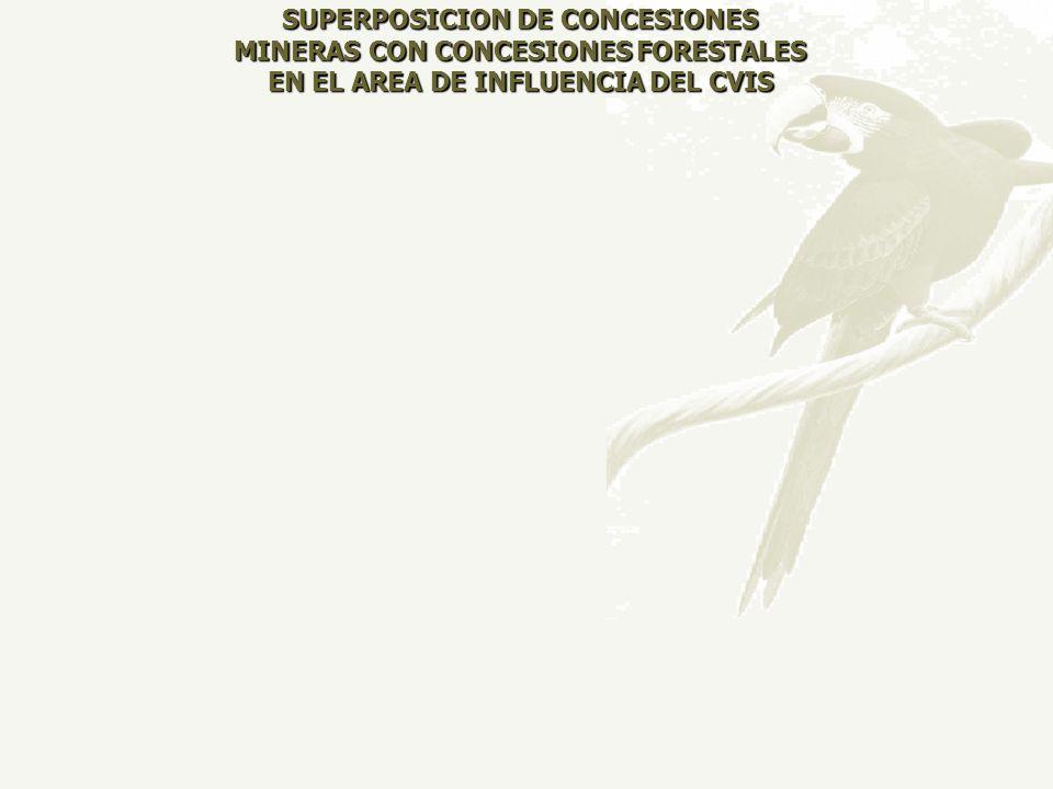 SUPERPOSICION DE CONCESIONES MINERAS CON CONCESIONES FORESTALES