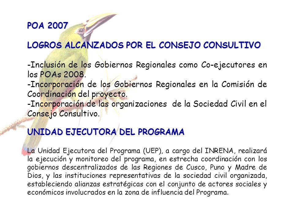 LOGROS ALCANZADOS POR EL CONSEJO CONSULTIVO