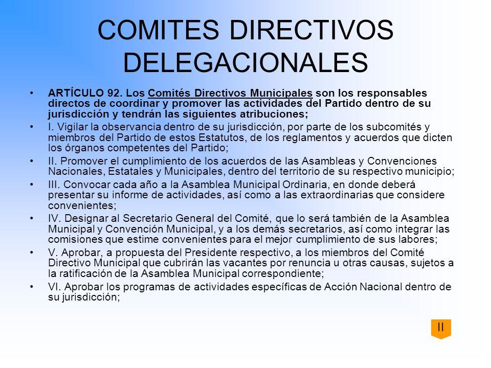 COMITES DIRECTIVOS DELEGACIONALES