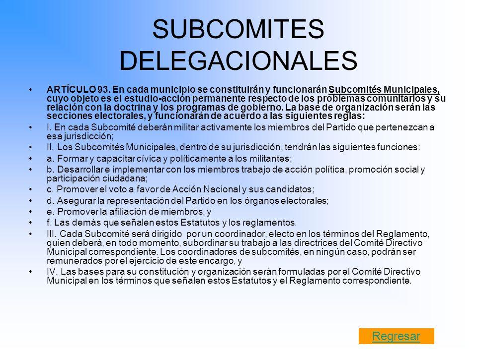 SUBCOMITES DELEGACIONALES