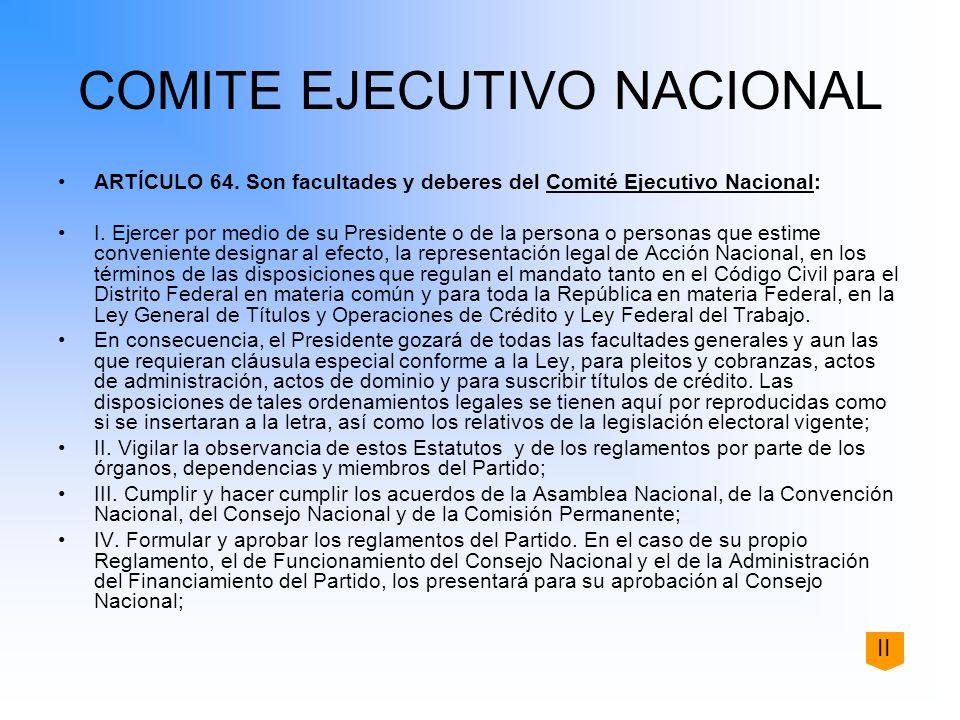 COMITE EJECUTIVO NACIONAL