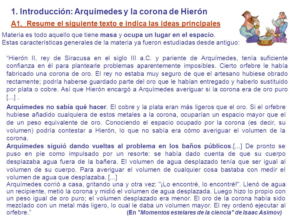 1. Introducción: Arquímedes y la corona de Hierón