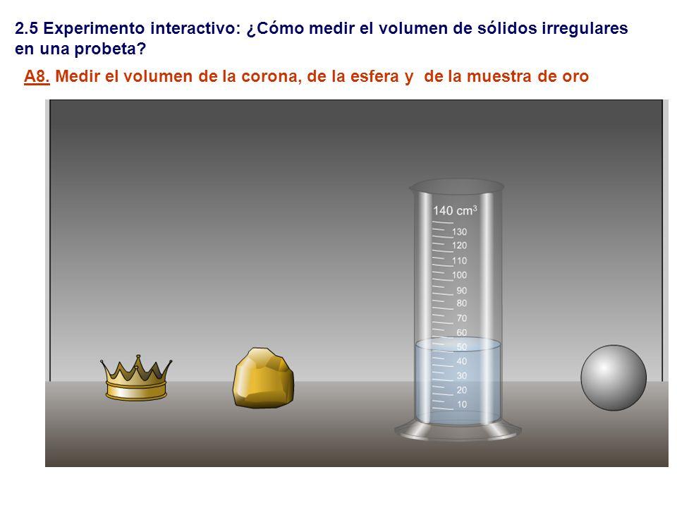 2.5 Experimento interactivo: ¿Cómo medir el volumen de sólidos irregulares
