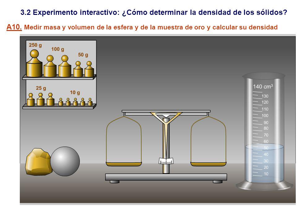 3.2 Experimento interactivo: ¿Cómo determinar la densidad de los sólidos