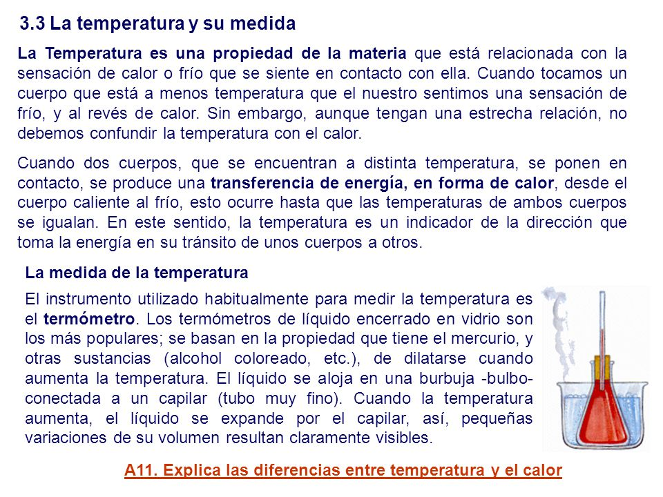 3.3 La temperatura y su medida