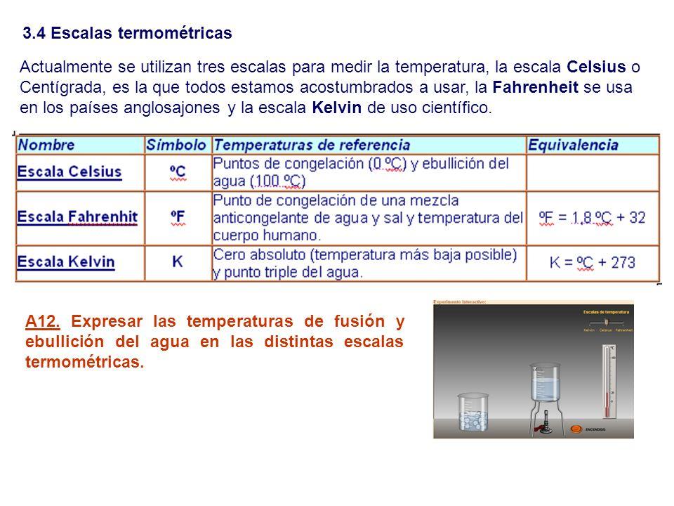 3.4 Escalas termométricas