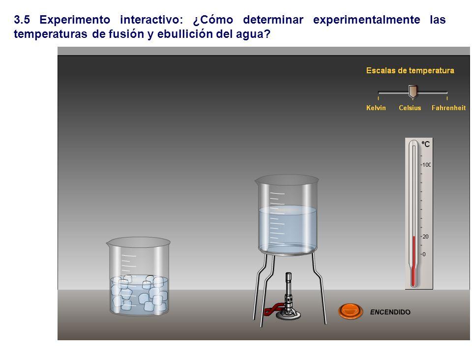 3.5 Experimento interactivo: ¿Cómo determinar experimentalmente las temperaturas de fusión y ebullición del agua
